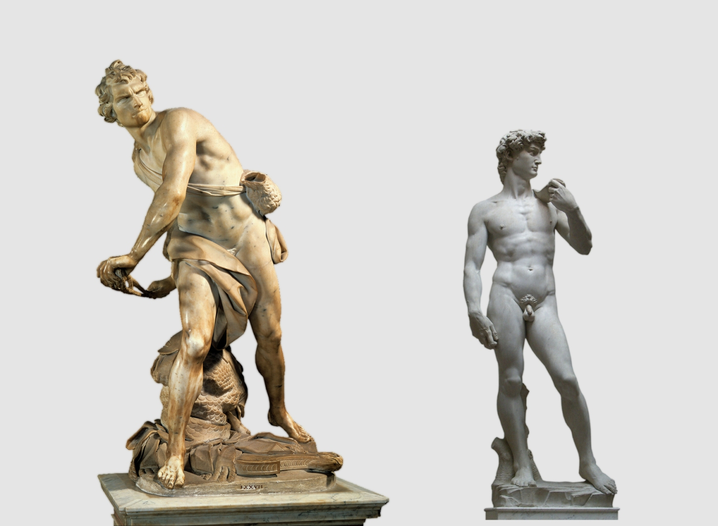 an analysis and a comparison of michelangelos david and berninis david Published: mon, 07 may 2018 the biblical character of david has been the inspiration for many works of art throughout history the young david, as goliath's adversary, has been sculpted by such artists as verrocchio, donatello, michelangelo, and bernini.