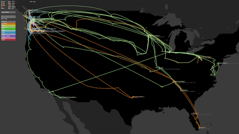 trash tracking map