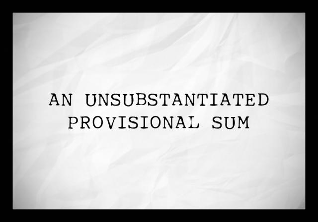 provisional sum