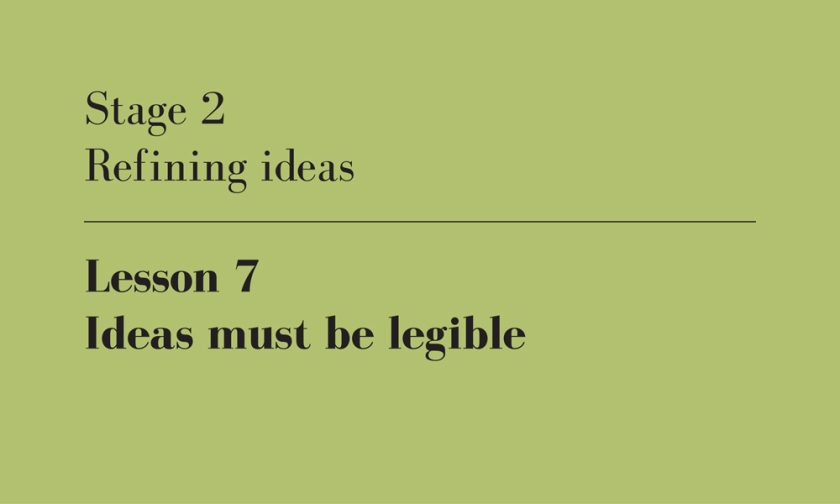 ideas must be legible