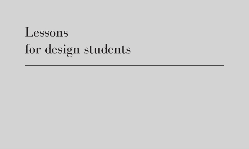 lessons for design students