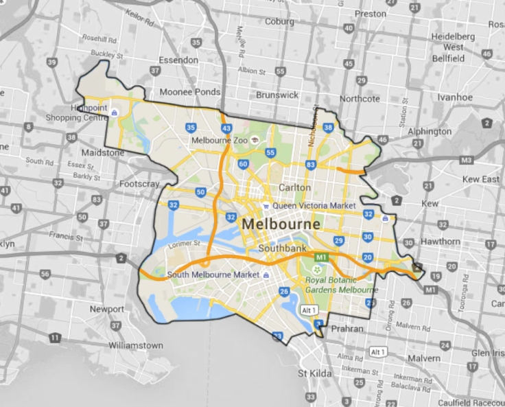 Houzz, Melbourne, Map