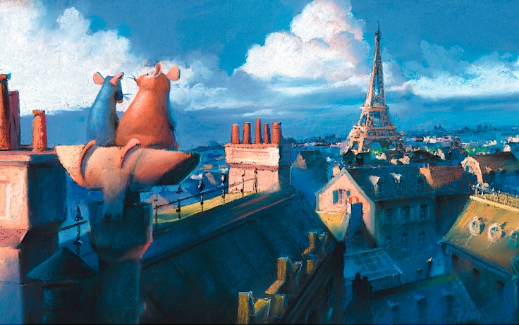 Pixar; artwork; painting; Paris