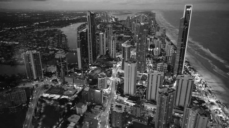 Queensland; Gold Coast; city; beach; edge