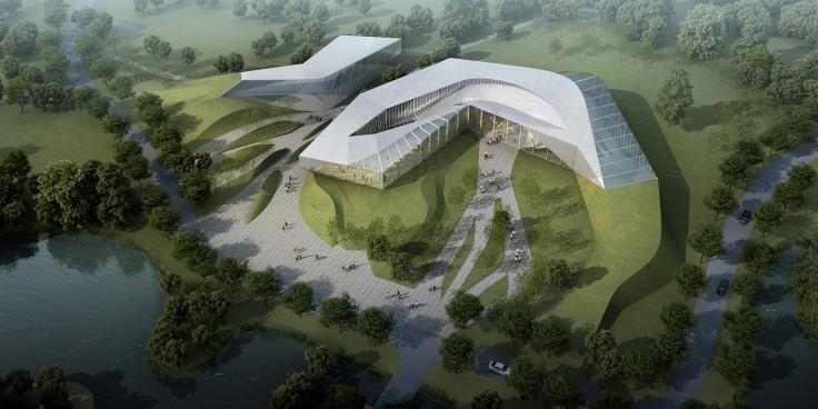 Plasma Studio; Eco-restaurant; Xixian City; Architecture; Render